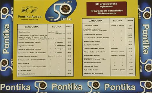 Actividad Pontika cumple 50 años