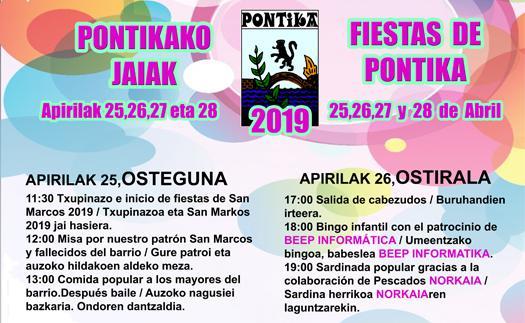 Actividad Fiestas de Pontika 2019