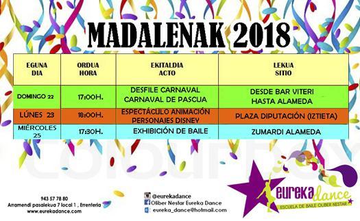 Actividad Fiestas Madalenas 2018