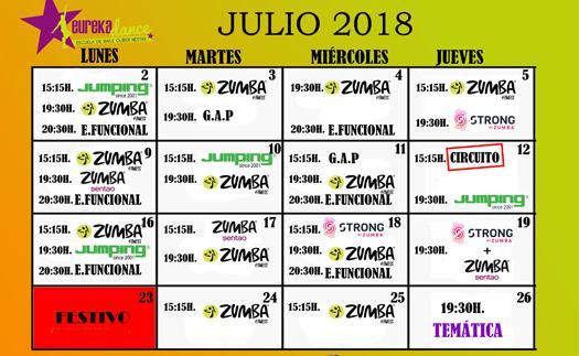 Actividad Ponte en forma, ¡también en julio!