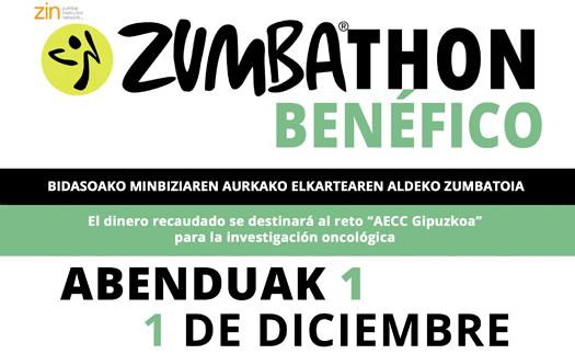 Actividad Zumbathon solidario AECC Gipuzkoa